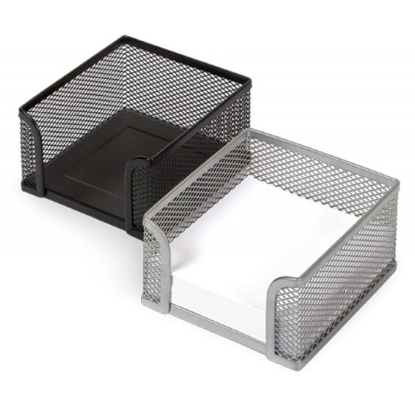 Кубарик подставка под блок бумаги 9*9*5 металлическая сетка
