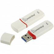 Память Smart Buy CROWN 64GB, USB 2.0 Flash Drive, белая SB64GBCRW-W