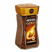 Кофе NESCAFE GOLD растворимый с молотым 95гр. ст/б.