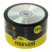 Диск CD-R 700Mb. Maxell 52x, 50 штук в пленке